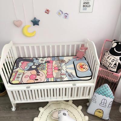 2018新款婴儿床冰丝席(实拍图) 60*120(2件套) 面包超人