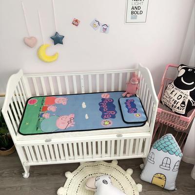 2018新款婴儿床冰丝席(实拍图) 60*120(2件套) 佩琪一家