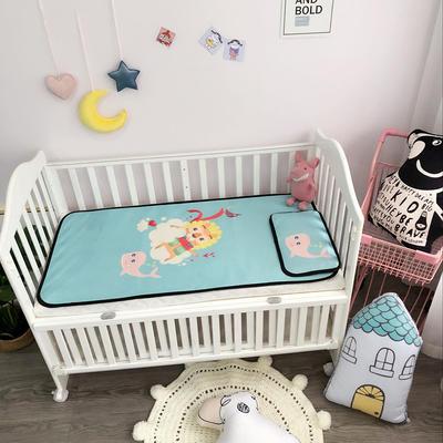 2018新款婴儿床冰丝席(实拍图) 60*120(2件套) 小狮子