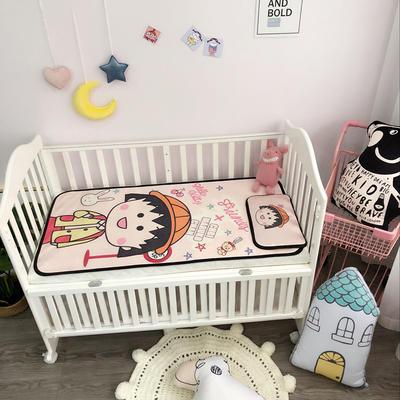 2018新款婴儿床冰丝席(实拍图) 60*120(2件套) 小丸子