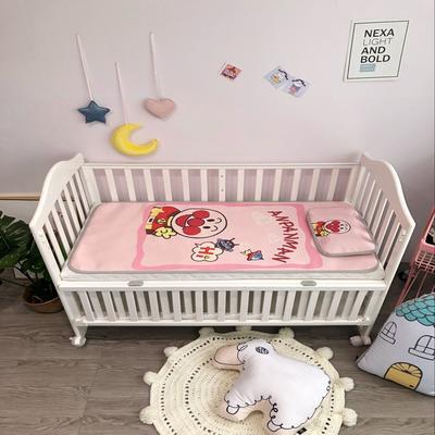 2018新款婴儿床冰丝席(实拍图) 60*120(2件套) 面包粉