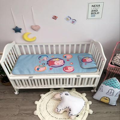 2018新款婴儿床冰丝席(实拍图) 60*120(2件套) 圆圈佩琪