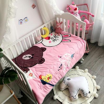 美乐迪    2018新品针织凉感宝宝夏被 105*140cm 兔与熊