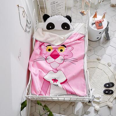 2018新款儿童羊羔绒毛毯 100*150 粉红豹