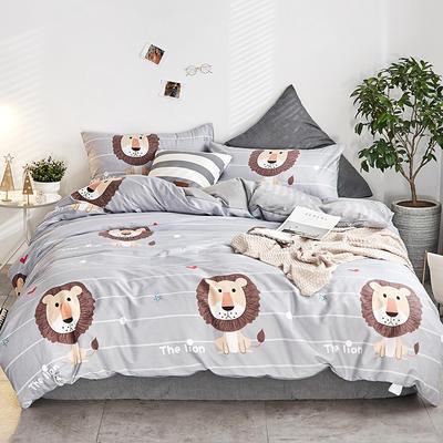 2018新款A棉B绒四件套 1.5m(5英尺)床 狮子王