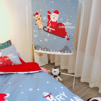 2018新款-圣诞款羊羔绒毛毯 80*130cm 圣诞灰