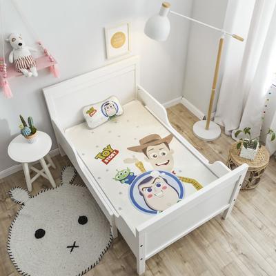 2019新款 婴儿冰丝席 60*120cm(2件套)枕套含荞麦芯 巴士