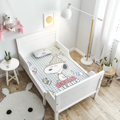2019新款 婴儿冰丝席 60*120cm(2件套)枕套含荞麦芯 狗狗格子