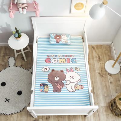 2019新款 婴儿冰丝席 60*120cm(2件套)枕套含荞麦芯 好朋友条纹