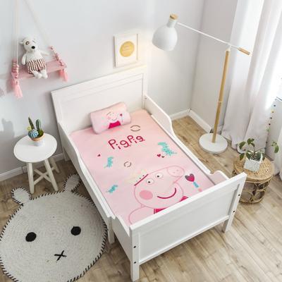 2019新款 婴儿冰丝席 60*120cm(2件套)枕套含荞麦芯 皇冠佩琪
