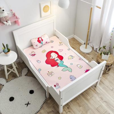 2019新款 婴儿冰丝席 60*120cm(2件套)枕套含荞麦芯 美人鱼