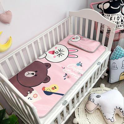 2019新款 婴儿冰丝席 60*120cm(2件套)枕套含荞麦芯 兔与熊