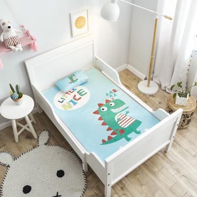 2019新款 婴儿冰丝席 60*120cm(2件套)枕套含荞麦芯 小恐龙
