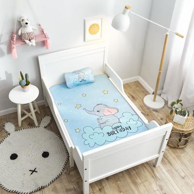 2019新款 婴儿冰丝席 60*120cm(2件套)枕套含荞麦芯 小象