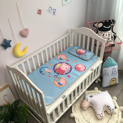 2019新款 婴儿冰丝席 60*120cm(2件套)枕套含荞麦芯 圆圈佩琪