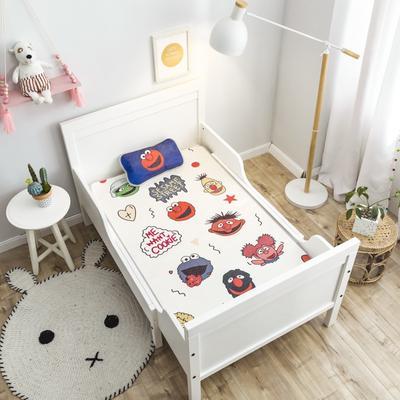 2019新款 婴儿冰丝席 60*120cm(2件套)枕套含荞麦芯 芝麻街