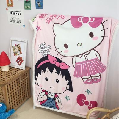 2019新款儿童羊羔绒毛毯 100*140 丸子猫咪
