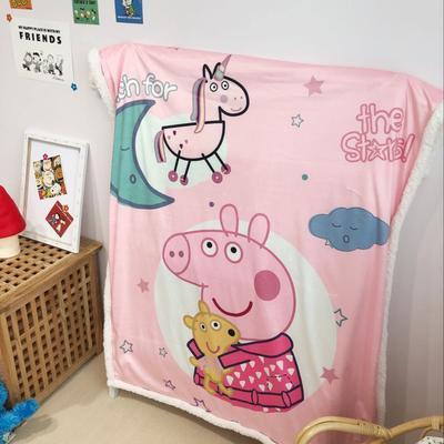 2019新款儿童羊羔绒毛毯 100*140 晚安配齐