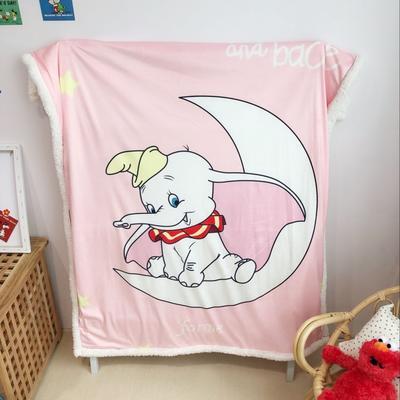 2019新款儿童羊羔绒毛毯 100*140 小飞象