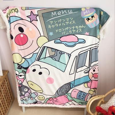 2019新款儿童羊羔绒毛毯 100*140 巴士面包