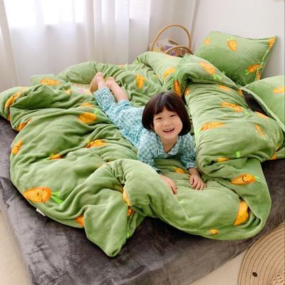 2019新款牛奶绒四件套 1.5m(5英尺)床单款 萝卜