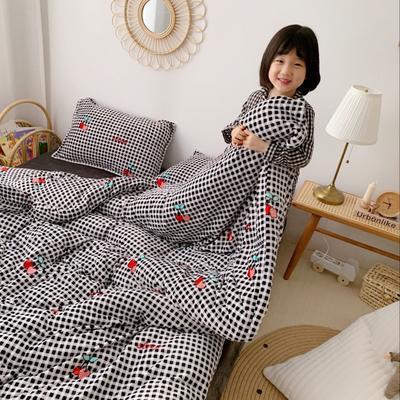 2019新款牛奶绒四件套 1.5m(5英尺)床单款 樱桃