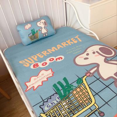 2020新款婴儿冰丝席2件套 枕套含荞麦芯 60*120 购物狗狗