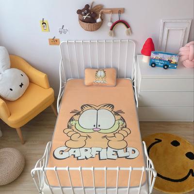 2020新款婴儿冰丝席2件套 枕套含荞麦芯 60*120 加菲猫
