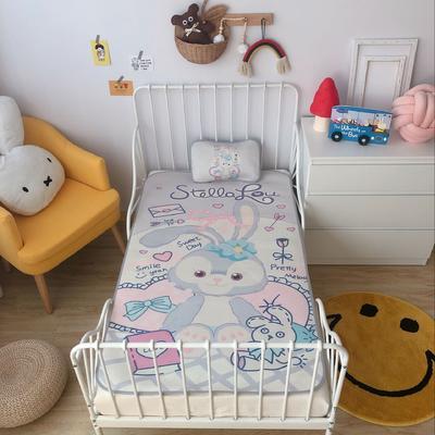 2020新款婴儿冰丝席2件套 枕套含荞麦芯 60*120 兔子