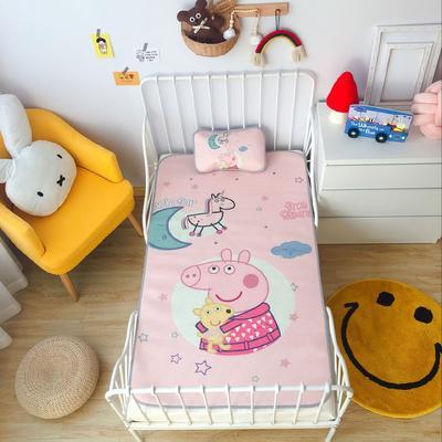 2020新款婴儿冰丝席2件套 枕套含荞麦芯 60*120 晚安小猪