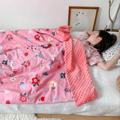 2020新款豆豆毯 80*120cm 粉色女孩