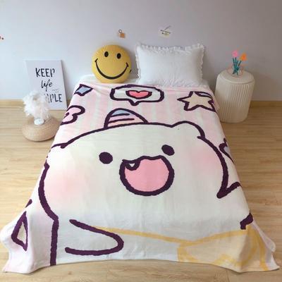 2020新款金貂绒双面毛毯-床拍图 150*200cm 背包独角兽