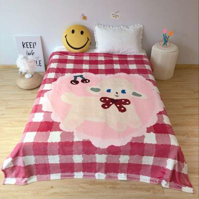 2020新款金貂绒双面毛毯-床拍图 150*200cm 小羊