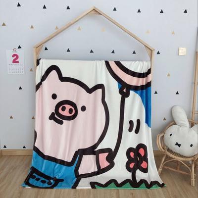 2020新款金貂绒双面毛毯-挂拍图 150*200cm 气球猪