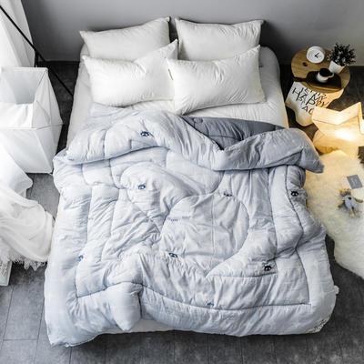水洗棉清新冬被 150*200   4斤 灵动-灰