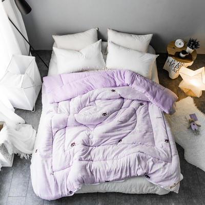 水洗棉清新冬被 150*200   4斤 灵动-紫