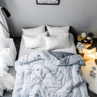 水洗棉清新冬被第一批原图 150*200  4斤 灵动-灰