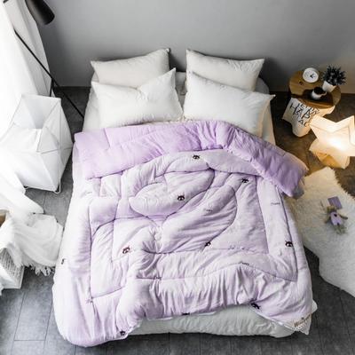 水洗棉清新冬被第一批原图 150*200  4斤 灵动-紫