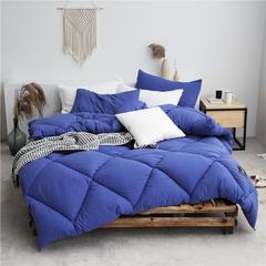 加厚斜纹水洗棉洛可可系列冬被被子被芯 150x200cm(4斤) 宝蓝