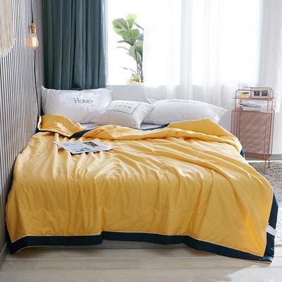 2019新款纯色13372全棉大豆纤维夏被 150x200cm 黄色