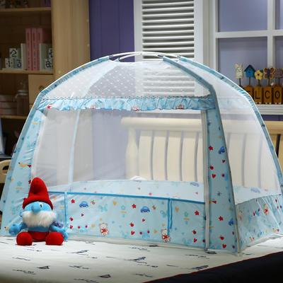 儿童蚊帐系列-(童年乐园 --2017年新款) 115cm*75cm*100cm蓝色