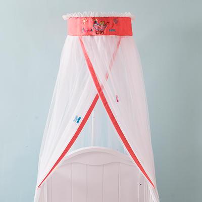 圆顶宫廷蚊帐-儿童蚊帐系列-(初心-baby2017年新款) 帐身周长6.5米,支架高度2米(粉色)