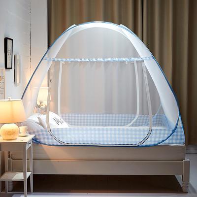 钢丝蚊帐系列(英伦格) 180cm*200cm*156cm 蓝色