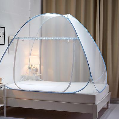 钢丝蚊帐-四叶草 1.2m(4英尺)床 梦幻-蓝