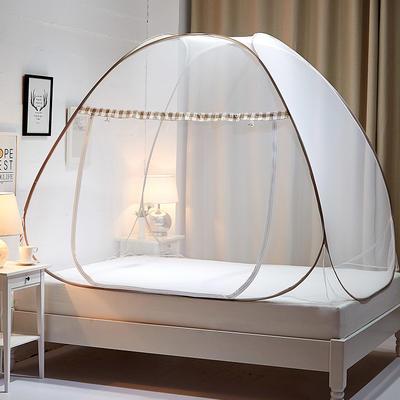 钢丝蚊帐-四叶草 1.5m(5英尺)床 梦幻-浅咖