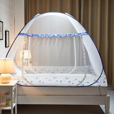 钢丝蚊帐-四叶草 1.2m(4英尺)床 悠然-兰