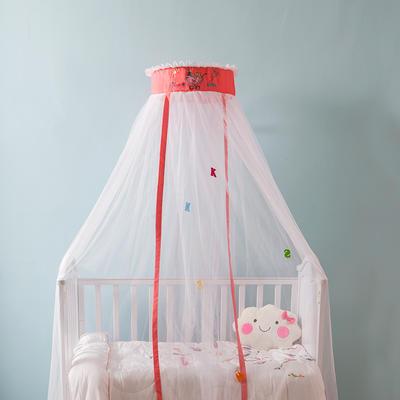 2019年儿童蚊帐(初心--2019年新款) 帐身周长6.5米/支架高度2米 初心-baby 粉色