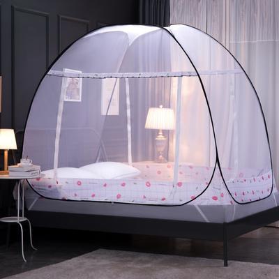 2020新款-钢丝蚊帐(巴洛克-西柚) 1.2米床(单门送风扇杆) 巴洛克-西柚