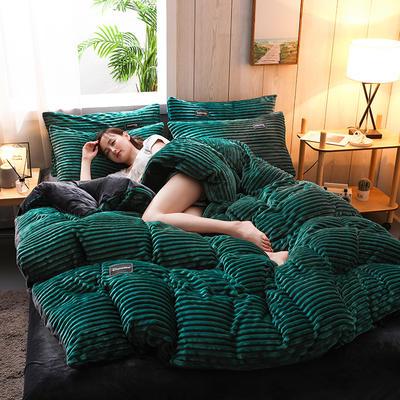 2019新款-魔法绒水晶绒四件套 床单款四件套1.5m(5英尺)床 绿松石