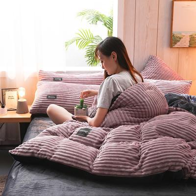 2019新款-魔法绒水晶绒四件套 床单款四件套2.0m(6.6英尺)床 藕粉